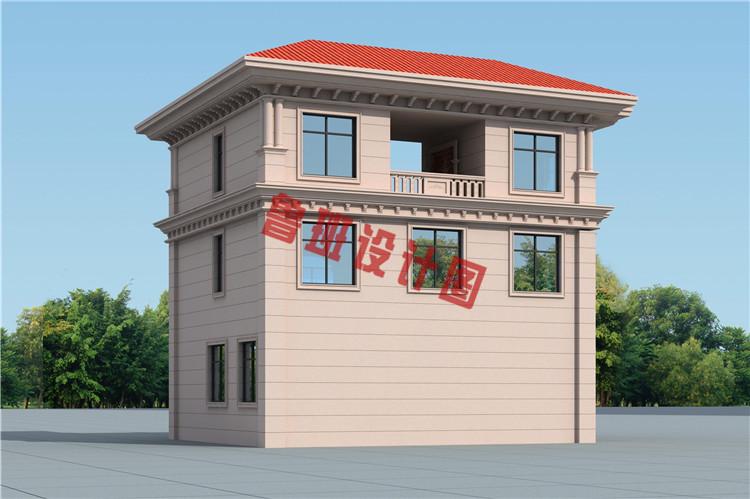 新款热销田园风三层小别墅外观图