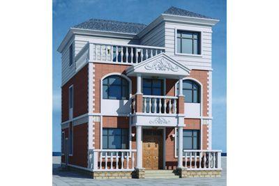 105平米三层农村经典自建房屋别墅设计图,施工简单