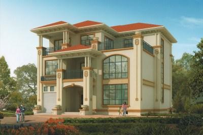 160平欧式三层自建房屋设计图,造价45万左右,功能较多