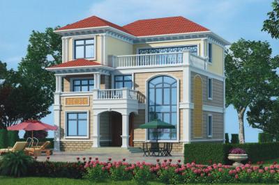 35万经典复式三层别墅设计图,外观时尚大气,经典,推荐!