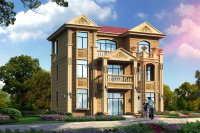 三层简欧别墅设计图,14米×10米,高端大气上档次