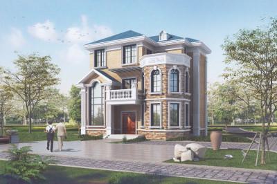 115平高端欧式风别墅设计图,外观精致、大气