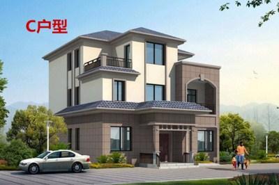 180平三层别墅房屋设计图,让您更加亲近大自然。