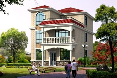 农村20万三层别墅款式设计图,采光好,空间宽敞