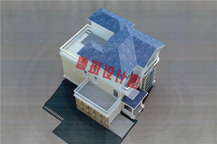 30万三层农村别墅设计鸟瞰图