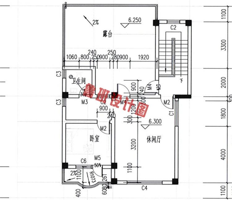 30万三层农村别墅设计三层户型图