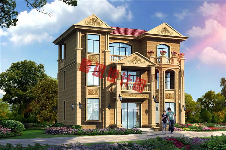 三层简欧别墅设计外观图