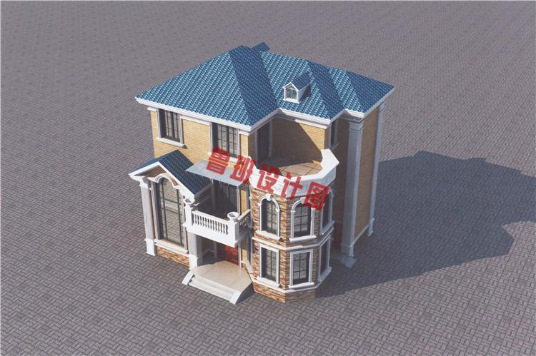 现代风别墅设计鸟瞰图
