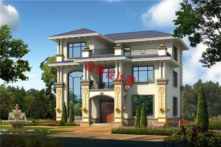 火爆款现代三层小别墅设计效果图