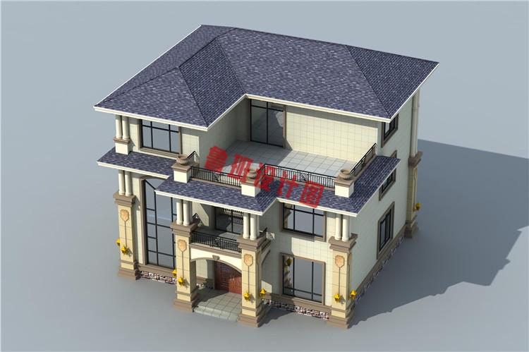 火爆款现代三层小别墅设计鸟瞰图