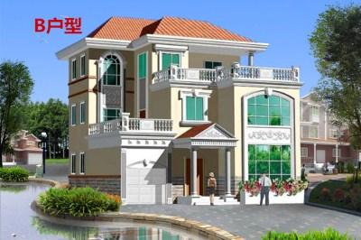 楼中楼三层自建房别墅设计图,时尚精致,色彩搭配协调