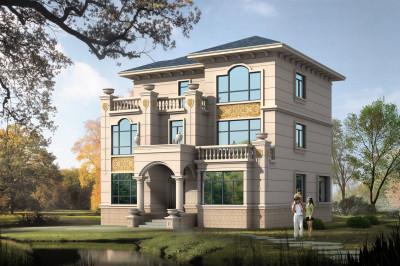 160平新农村三层小别墅设计图,35-45万,外观别致