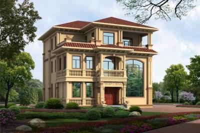 35万美式三层农村别墅设计图纸,设计精湛,大师之作!