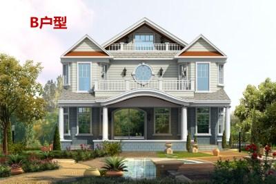 农村二层半小别墅图片及效果图,视觉效果丰富