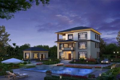 现代中式三层小别墅房屋推荐设计图,沉稳内敛,高贵典雅。