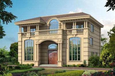 农村三层70万别墅图片大全及设计图,造型设计感十足。