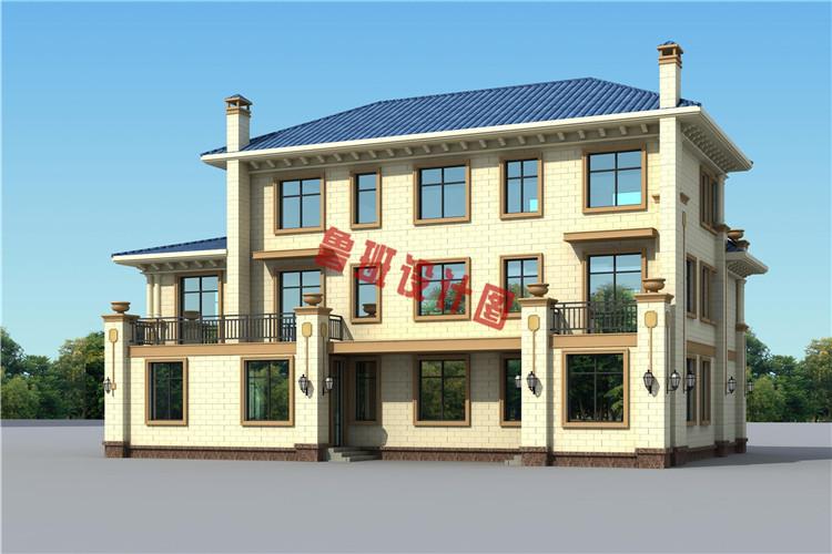 欧式高端三层别墅设计外观图