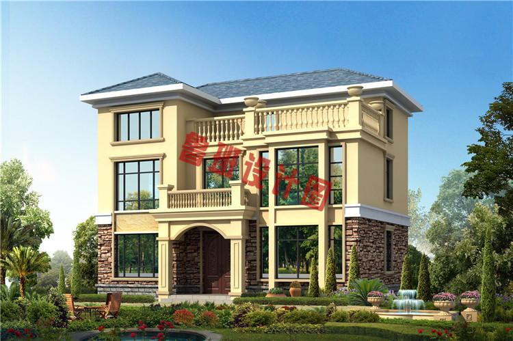 小面积乡下三层别墅设计外观图