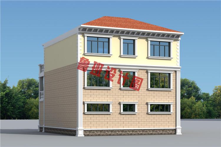 0平方三层别墅设计图,带车库和大露台