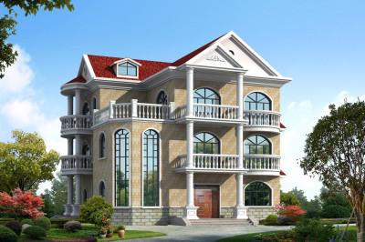 2020欧式三层新款别墅设计图,农村自建推荐,精致漂亮