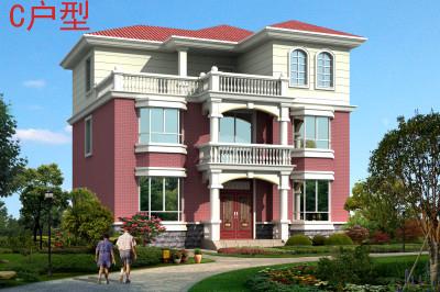 140平农村三层房屋设计图,外观简约大方,简单实用