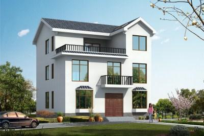 15万左右农村三层房屋别墅图,设计简洁大方