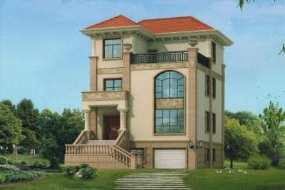 农村三层半小别墅设计图,设计的很巧妙