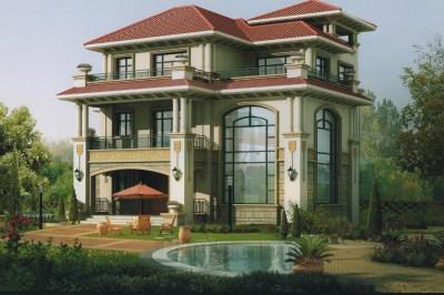 100万农村别墅设计图三层,高端、奢侈、豪华
