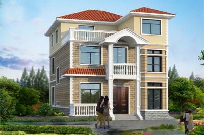 农村三层15万自建房设计图,主体造价15万到20万。