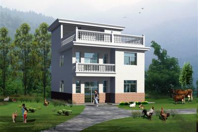 自建三层楼房造价16万,全套设计图,外观简单