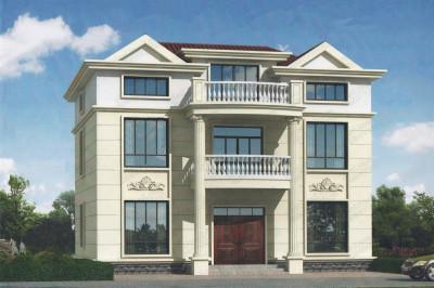 农村二层半别墅设计图,三层户型自定义,实用