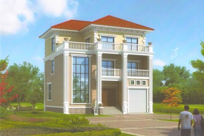 简约三层小别墅设计图,小户型布局经典、实用。