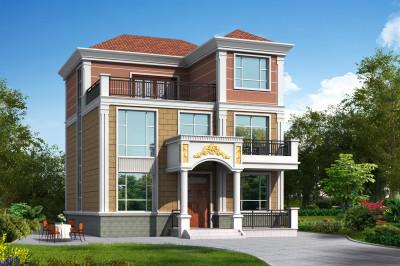 乡村复式三层楼房设计图,经济实用,美观大气