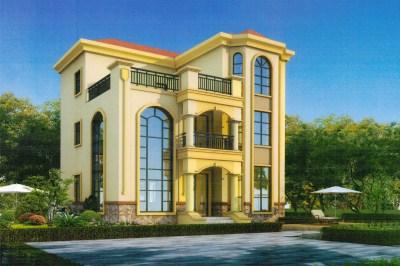 新颖大气欧式三层别墅设计图,12×12.5米时尚美观,气势恢宏!