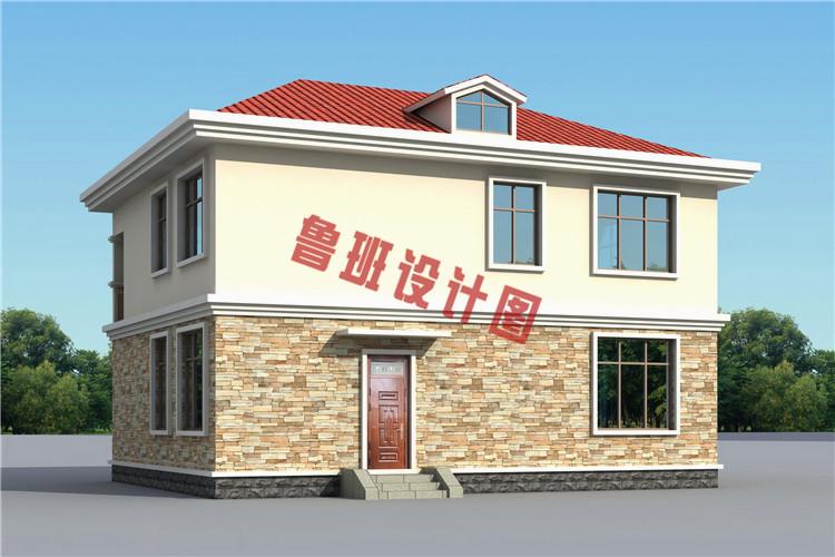 农村30万别墅款式图片,时尚漂亮的二层小别墅设计