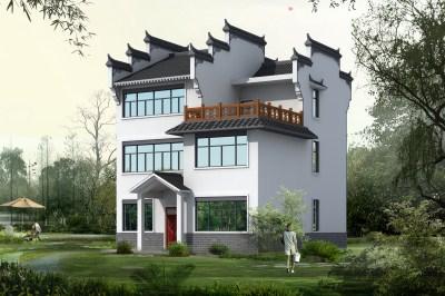 徽派古典三层别墅房屋设计图,集结古今精髓!