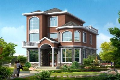 三间三层楼房设计图推荐,简约而不失大气。