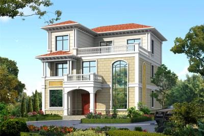 农村二层半别墅效果图及设计图,装饰精美,几代不过时!