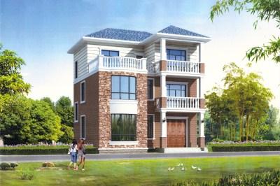 农村二层楼房图片造价20万,小户型别墅设计推荐。