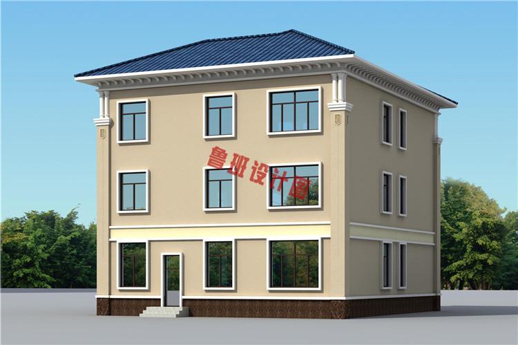 热销款复式实用三层别墅设计外观图