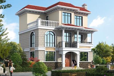 农村20万二层半楼房设计图,造价20万左右!