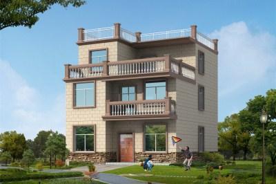 10×12平米三层农村自建房别墅设计图,符合生活需求