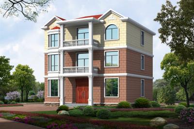 12X13米新农村别墅设计图,户型简单大方造价低,适合农村养老!