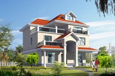 二层半别墅设计图30万造价,时尚、现代,富有时代的韵味。
