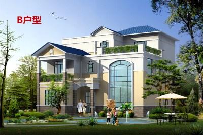 欧式三层乡村自建房屋设计图,12.5×15米,让您眼前一亮