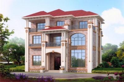 农村40万左右房子图片,不错的洋气别墅设计图。