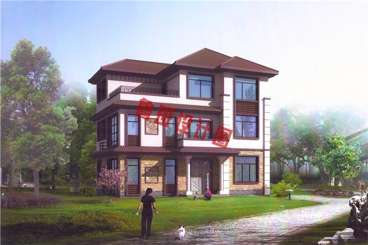 热销款新中式三层别墅设计效果图