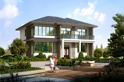 漂亮农村三间二层别墅房屋设计图,简单实用