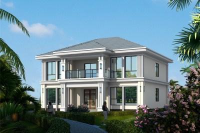 150平米新中式两层楼房设计图,外观大气时尚