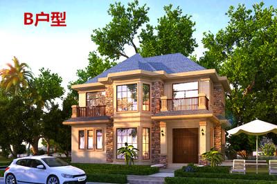 2019新款三间二层别墅设计图,受欢迎的户型布局。